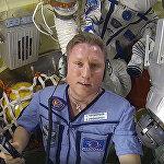 宇航员谢尔盖?普罗科皮耶夫在国际空间站