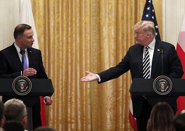 波兰总统安杰伊·杜达和美国总统唐纳德·特朗普