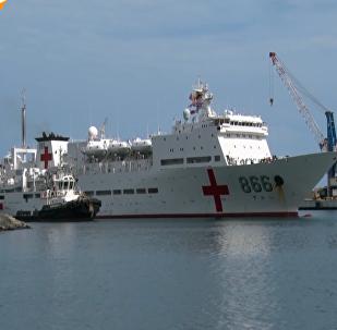 委内瑞拉喜迎和平方舟号医疗船