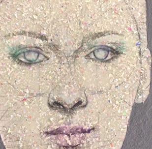 英國藝術家變舊CD為藝術肖像
