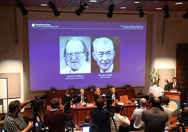 2018年诺贝尔医学奖授予发现癌症新疗法的科学家