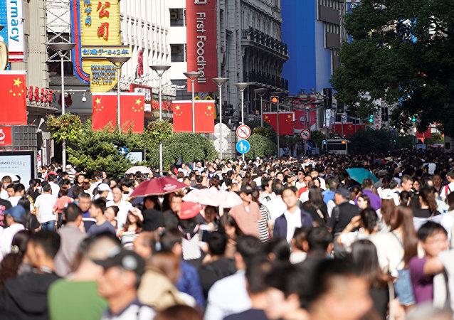中国游客在上海