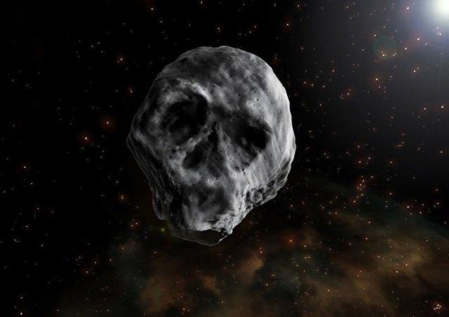 類似人類頭骨形狀的小行星正在接近地球