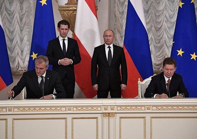 俄气与奥地利石油天然气集团签署了协议,奥地利石油天然气集团将加入俄乌连戈气田的开发工作
