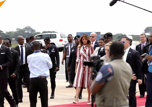 美国第一夫人独自出访非洲
