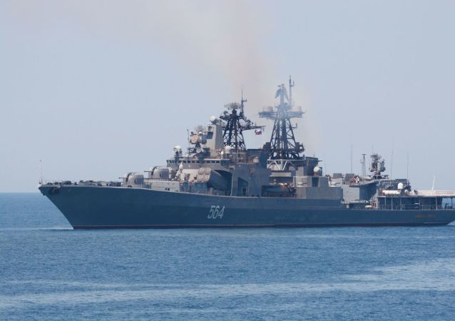 俄太平洋舰队编队与中国海军在黄海举行演习