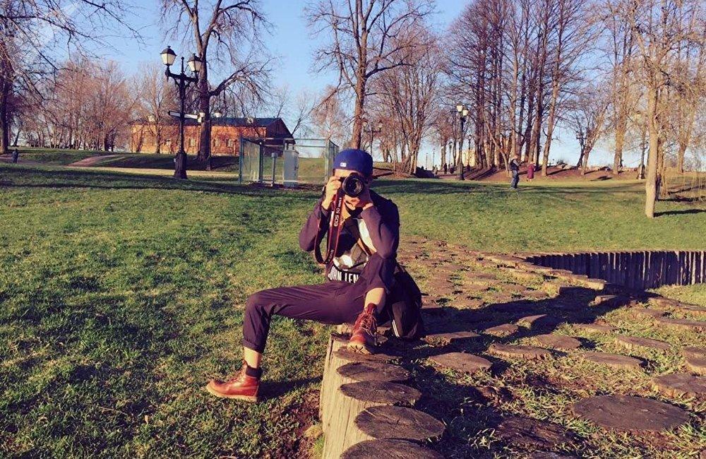 张同学在莫斯科庄园摄影