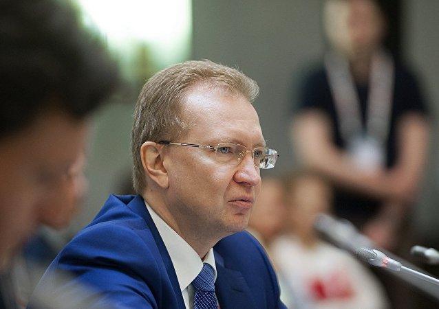 """""""俄罗斯铁路""""股份公司第一副总裁瓦季姆•米哈伊洛夫"""