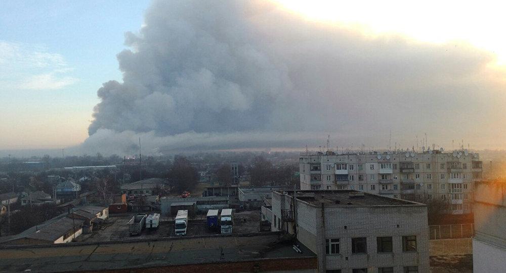烏克蘭軍事倉庫發生爆炸