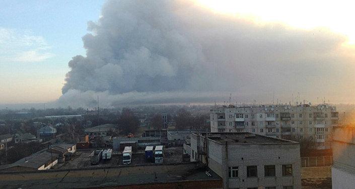 乌克兰军事仓库发生爆炸