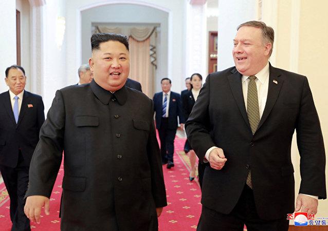 金正恩与蓬佩奥的会面