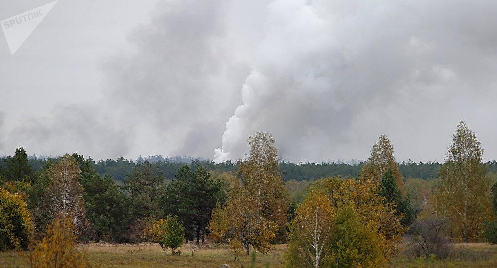 乌克兰国防部:切尔尼戈夫州火灾后已加强对全国军火库保护