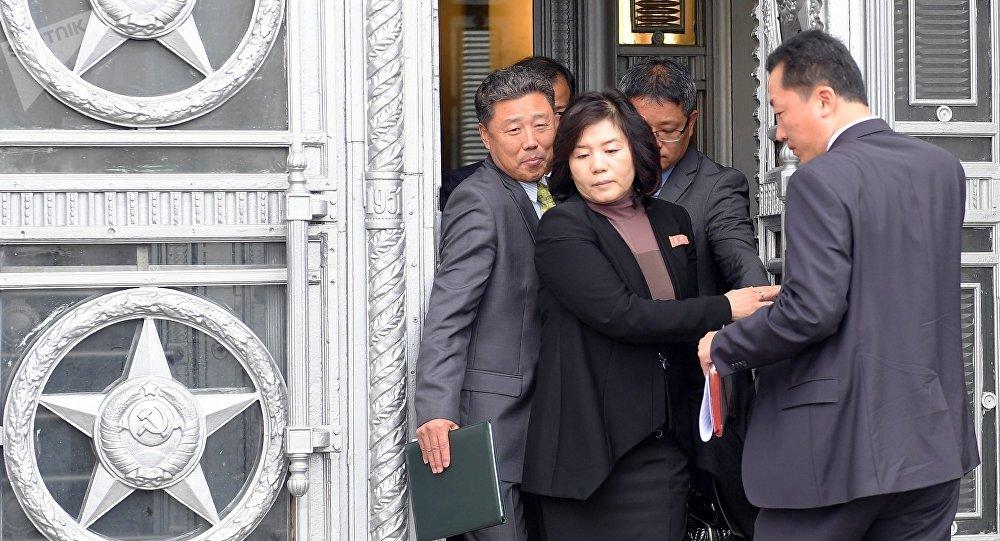 朝鮮外務省第一副相崔善姬已經抵達莫斯科開始進行訪問