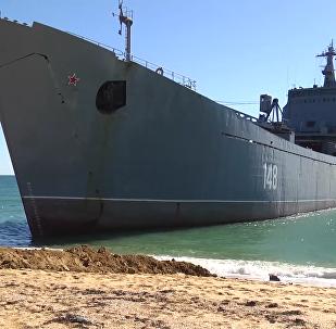 黑海艦隊海軍陸戰隊和海岸警衛隊的雙面演習