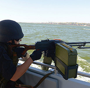 烏克蘭海岸警衛隊在 亞速海