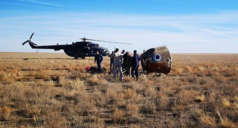 聯盟號宇航員已經返回拜科努爾