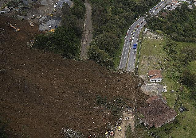 山体滑坡在哥伦比亚