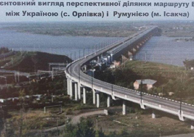 基辅从俄罗斯钞票上复制桥梁项目