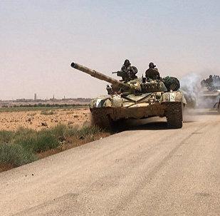 叙利亚政府军在叙约边境