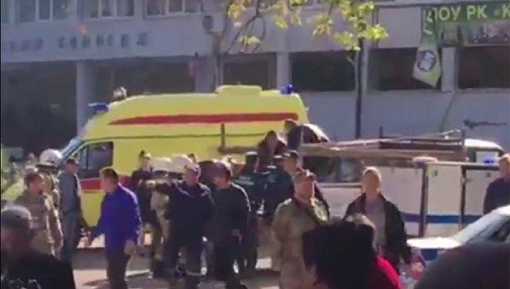 克里米亚刻赤一所学校一爆炸装置爆炸