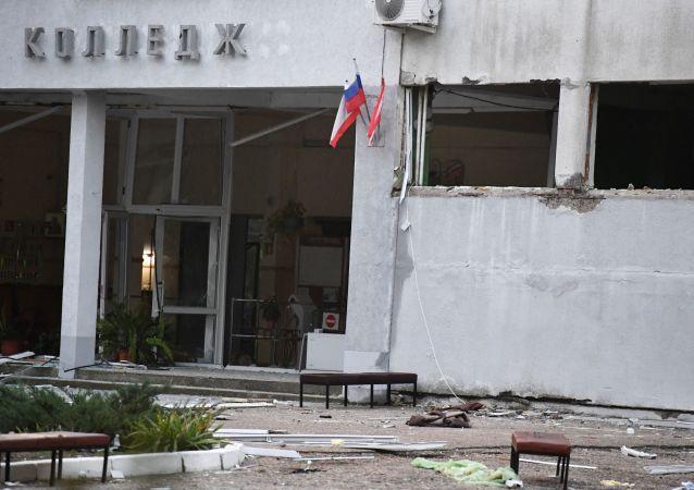 Здание Политехнического колледжа в Керчи, в котором произошли взрыв и стрельба