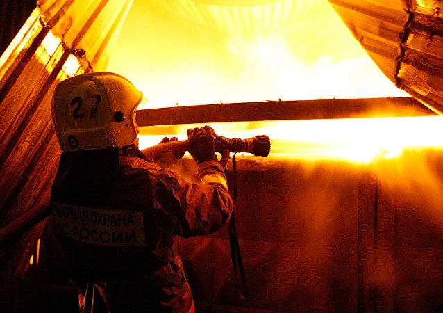 俄弗拉季高加索电镀厂火灾过火面积扩大至4500平方米