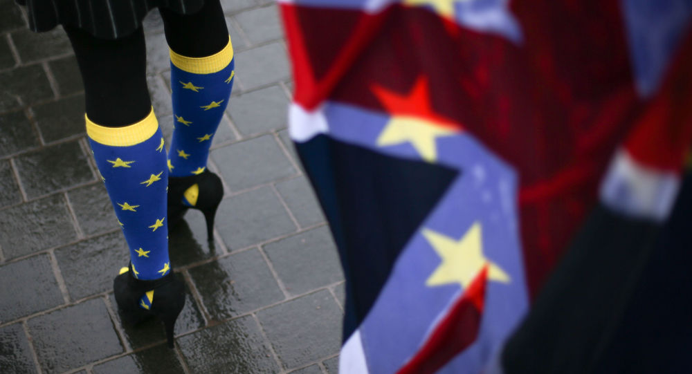 超过十万名英国民众走上伦敦街头要求进行新的英国脱欧全民公投