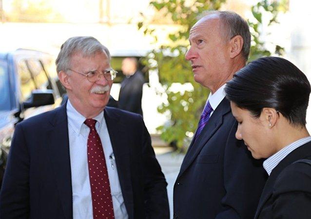 博爾頓與帕特魯捨夫討論敘利亞和朝鮮等問題