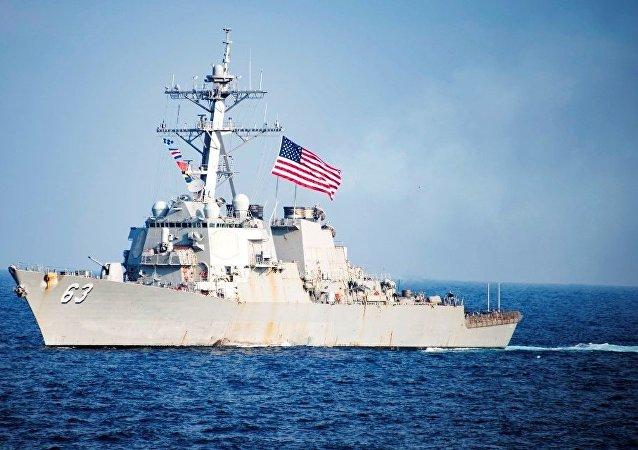 美国军舰再度出现在台湾海峡