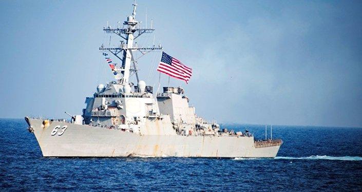 美國軍艦再度出現在台灣海峽