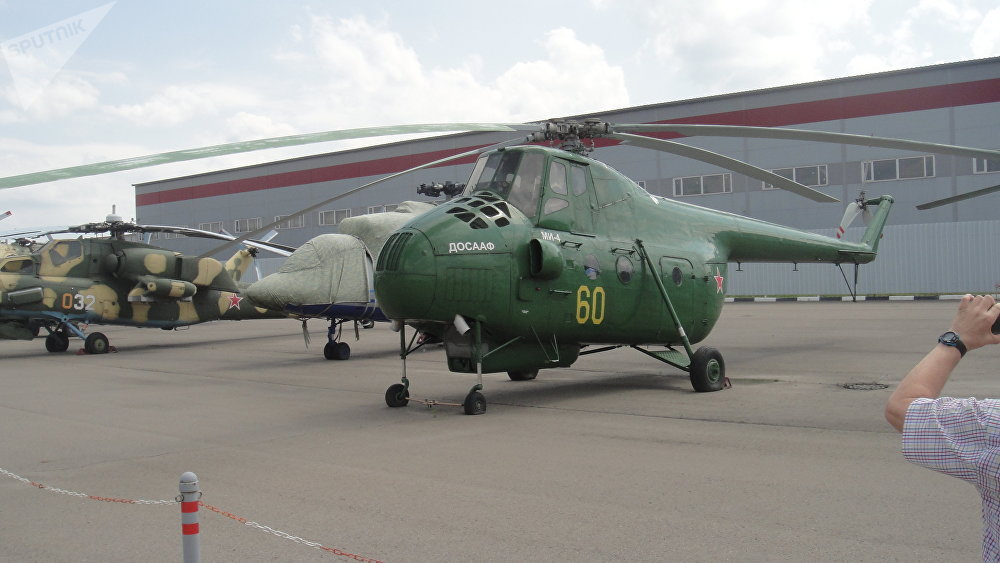 歷史的篇章。蘇聯空軍陸軍航空兵在上世紀50年代至70年代使用的米-4運輸直升機