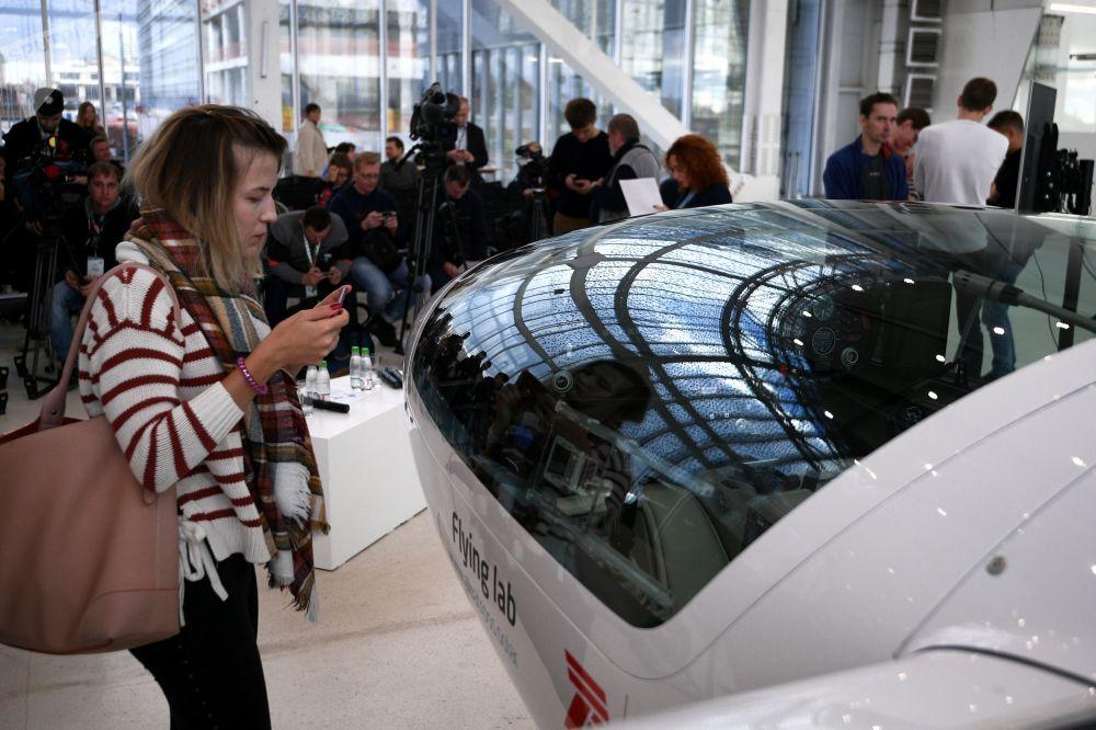 环球飞行之电动飞机样机发布会访客