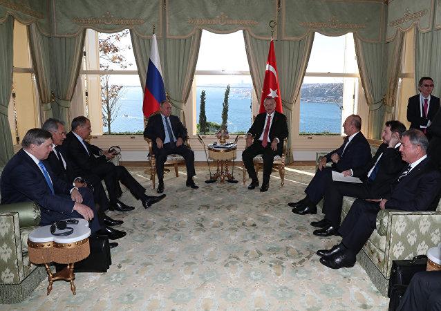 普京結束了與埃爾多安在伊斯坦布爾的會談