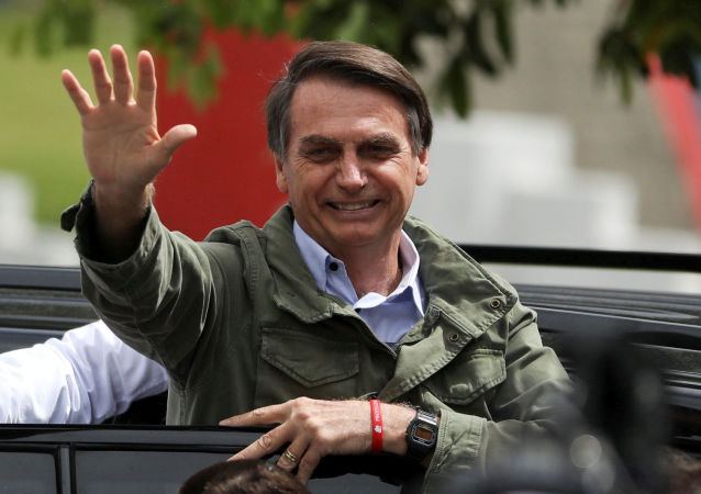 Кандидат в президенты Бразилии Жаир Болсонару