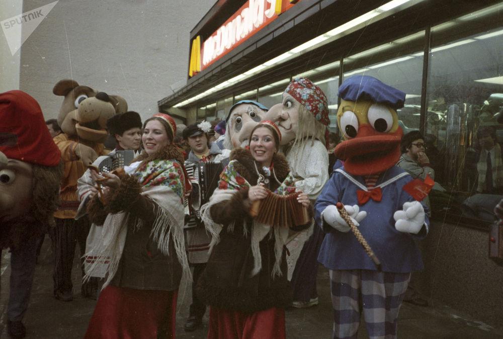 莫斯科麦当劳餐厅开业典礼,1990年
