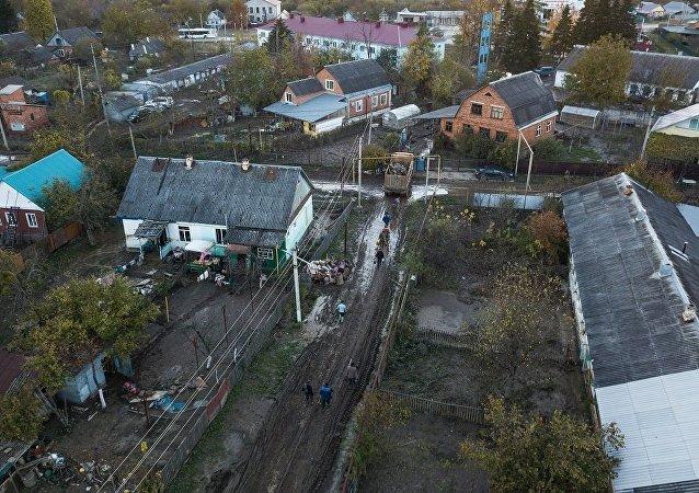 哈德任斯克遭遇水灾的受害者
