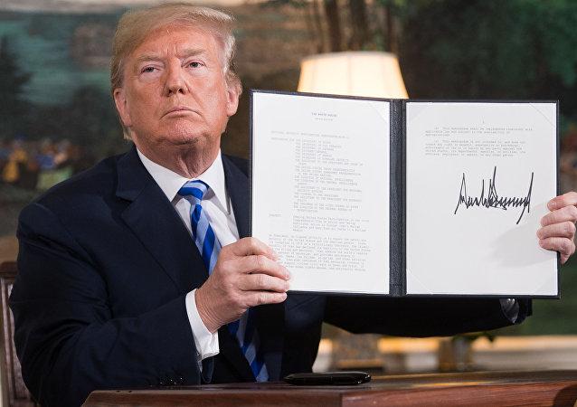 特朗普簽署對伊加強制裁文件