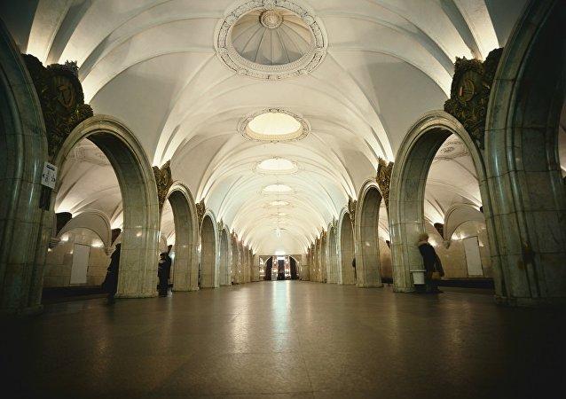 在莫斯科地铁帕维列茨站(Paveletskaya)