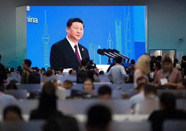 中国国家主席习近平宣布首届中国国际进口博览会开幕