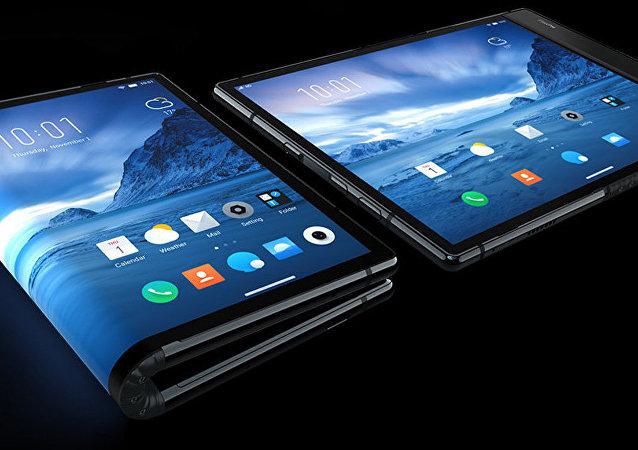 中国推出全球首款软屏手机