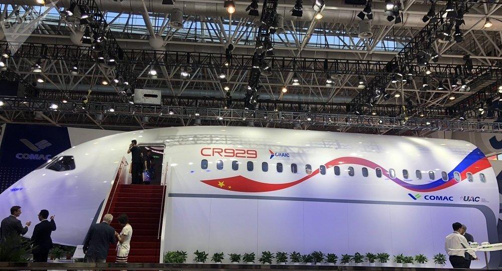 俄中合研CR929宽体客机样机在珠海航展上首次亮相