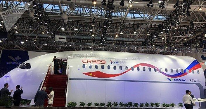 俄中合研CR929寬體客機樣機在珠海航展上首次亮相