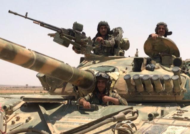 俄国防部:叙军在叙南部进攻过程中消灭270多名伊斯兰国武装分子