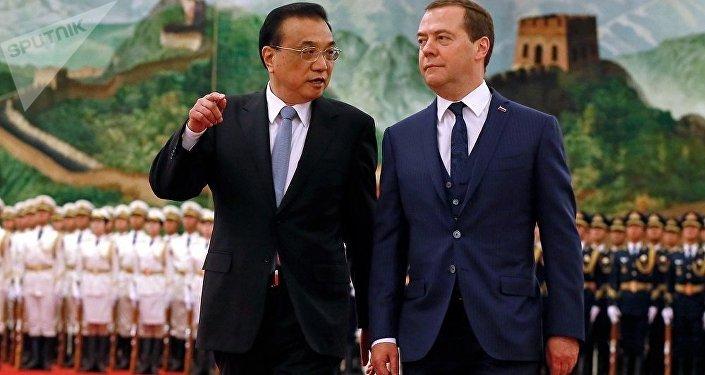 俄罗斯总理梅德韦杰夫和中国国务院总理李克强
