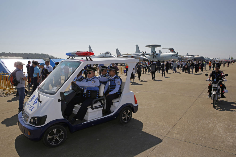 中國國際航空航天博覽會上的警察巡邏隊