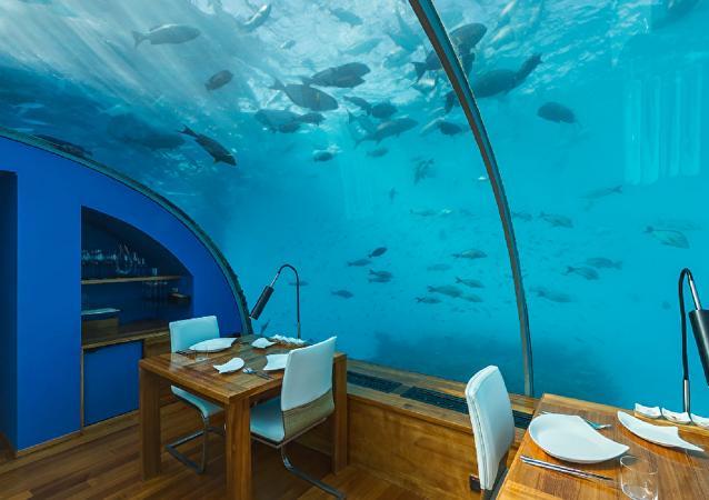 世界首座海底酒店马尔代夫落成开业
