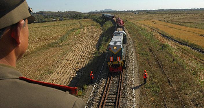 韩朝铁路对接项目开工仪式在朝鲜举行