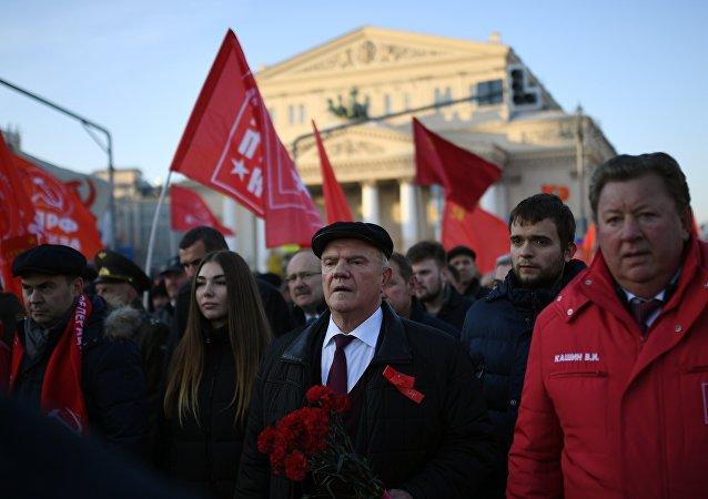 俄羅斯共產黨領導人久加諾夫