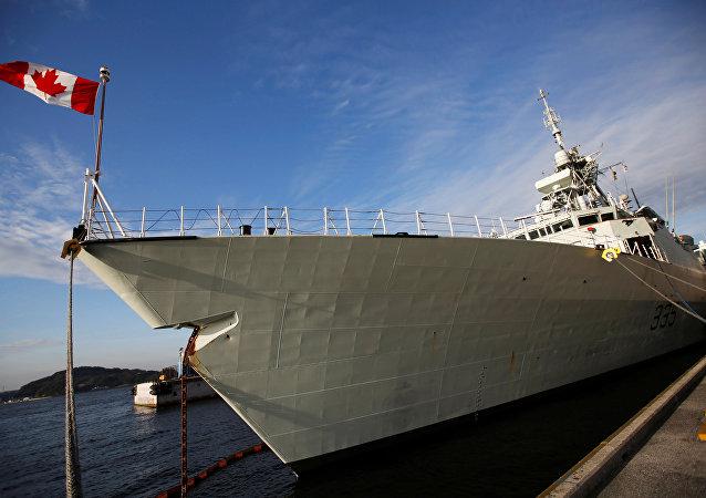 媒体:加拿大海军军舰穿越台湾海峡