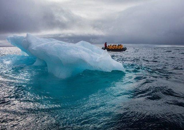 俄中科學家收集北極地區的氣候變化資料